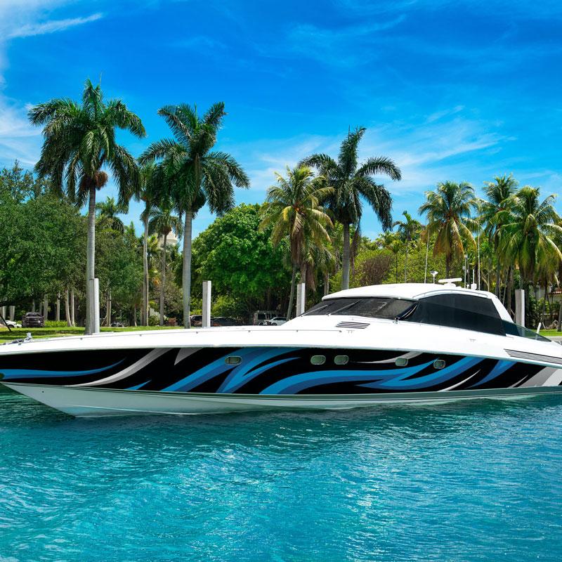 Custom Boat Wrap Design