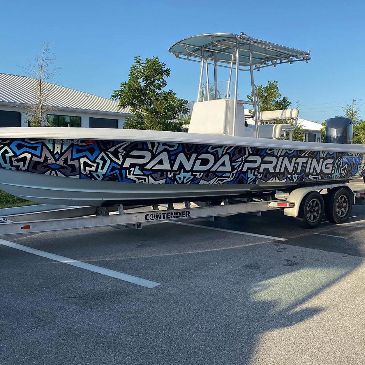 Panda Printing Custom Designed Boat Wrap